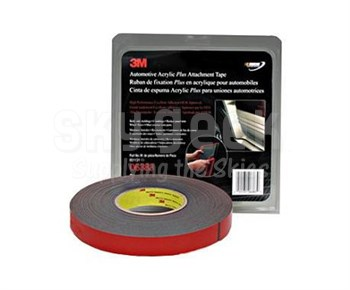 """3M™ 051131-06383 Black 06383 Automotive 45 Mil Acrylic Plus Double-Sided Attachment Tape - 7/8"""" x 20 Yard Roll"""