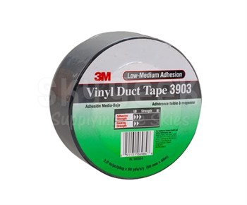 "3M™ 051131-06984 Gray 3903 Vinyl 6.5 Mil Duct Tape - 2"" x 50 Yard Roll"