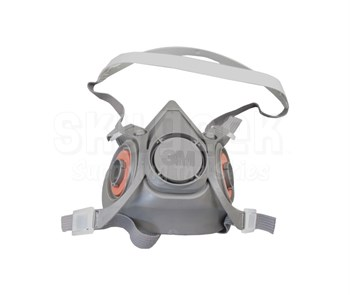 3M 051131-07026 Large Half Facepiece Reusable Respirator 6200/07025(AAD) - 24 Assemblies/Case