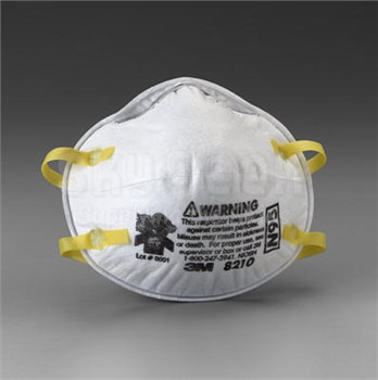 3M 051138-46457 8210 Disposable Particulate Respirator Face Masks - N95