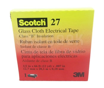 """3M 054007-15066 Glass Cloth Electrical Tape 27 - 1/2"""" x 66 ft."""