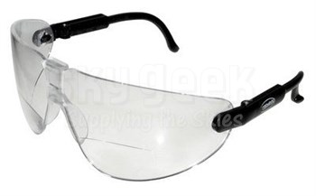 3M™ 078371-62251 Lexa™ 13354-00000-20 Black Temple Medium Clear +2.0 Diopter Anti-Fog Lense Reader Safety Glasses