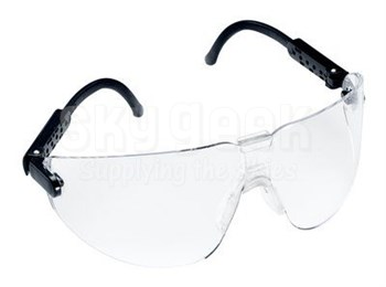 3M™ 078371-62287 Lexa™ 15200-00000-20 Black Temple Medium Anti-Fog Lenses Safety Glasses