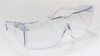 3M™ 078371-62345 Tour-Guard™ III 41210-00000-100 Wrap Around Frame Clear Lens Over the Glass Safety Glasses