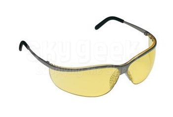 3M™ 078371-62358 Metaliks™ 11346-10000-20 Nickle Frame Yellow Lenses Sport Protective Safety Glasses