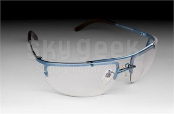 3M™ 078371-62374 Metaliks™ 11532-10000-20 Blue Metal Frame Clear Anti-Fog Lenses Sport Protective Safety Glasses