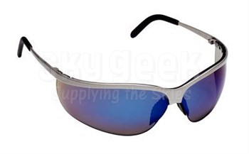 3M™ 078371-62375 Metaliks™ 11540-10000-20 Nickle Frame Blue Mirror Lenses Sport Protective Safety Glasses