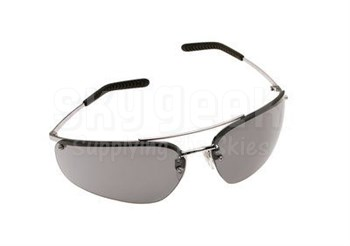 3M™ 078371-62381 Metaliks™ 15171-10000-20 Polished Metal Frame Gray Anti-Fog Lenses Sport Protective Safety Glasses