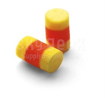 3M™ 080529-10063 E-A-R™ Classic™ SuperFit™ 30 310-1009 Yellow/Orange Uncorded Pillow Pack Earplugs - 200 Pair/Box