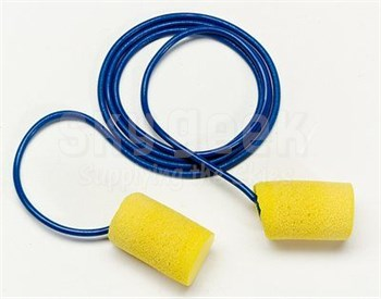 3M™ 080529-11024 E-A-R™ Classic™ 311-1106 Yellow/Blue Small Size Corded Earplugs - 200 Pair/Box