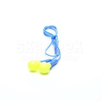 3M™ 080529-18000 E-A-R™ Push-Ins™ 318-1000 Yellow/Blue Uncorded Poly Bag Earplugs - 100 Pair/Box