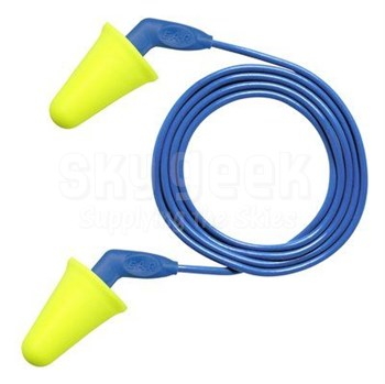 3M™ 080529-18018 E-A-R™ Push-Ins™ SofTouch™ 318-4001 Yellow/Blue Corded Poly Bag Earplugs - 200 Pair/Box