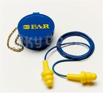 3M™ 080529-40001 E-A-R™ UltraFit™ 340-4002 Yellow Corded Earplugs in Carrying Case - 50 Pair/Box