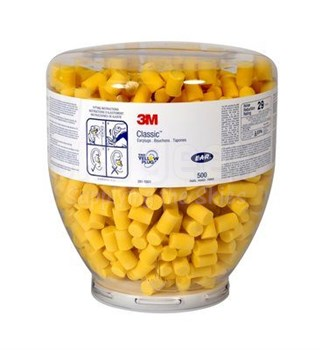 3M™ 080529-91001 E-A-R™ Classic™ One Touch™ 391-1001 Yellow Earplug Refill - 500 Pair/Bottle
