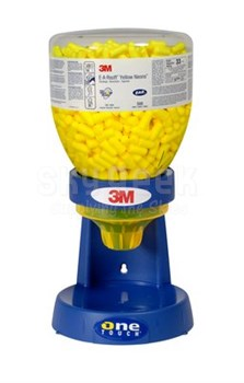 3M™ 080529-91005 E-A-Rsoft™ Yellow Neons™ One Touch™ 391-1005 Large Size Uncorded Earplug Refill - 400 Pair/Bottle