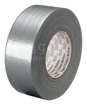 "3M™ 051131-06975 Silver 3939 Heavy-Duty 9 Mil Duct Tape - 1.88"" x 60 Yard Roll"