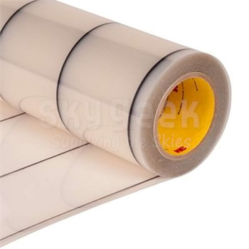 "3M™ 70-0000-8412-2 Transparent 8663DL Dual Liner 18 Mil Polyurethane Protective Tape - 18"" x 36 Yard Roll"