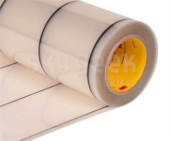"3M™ 70-0000-8412-2 Transparent 8663DL Dual Liner 18 Mil Polyurethane Protective Tape - 24"" x 36 Yard Roll"