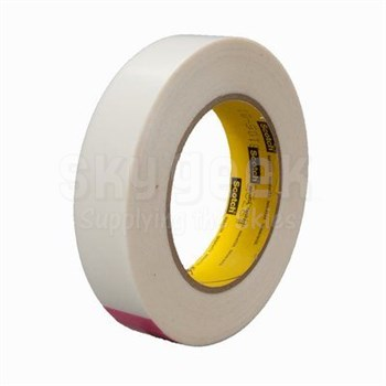 "3M™ 021200-30257 Scotch® 9325 Transparent 5.0 Mil Squeak Reduction Tape - 1"" x 36 Yard Roll"
