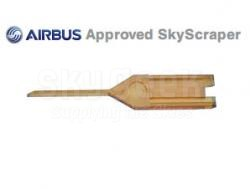 SOCOMORE 310/03 Skyscraper™ Amber Ultem 3mm Wide Airbus Profile Fluted Sealant Removal Tool