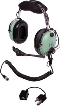 David Clark 40696G-01 Lockheed C-130J ENC Over-the-Head 5-Foot Coil Cord Low Impedance Military Headset