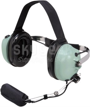 David Clark 40897G-03 Model H9842 Behind-the-Head 8-Foot Coil Cord Marine Performance Boat Headset