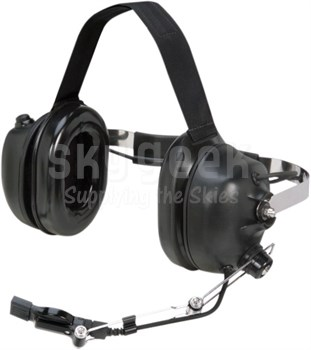David Clark 40897G-04 Model H9842BK Behind-the-Head 8-Foot Coil Cord Marine Performance Boat Headset