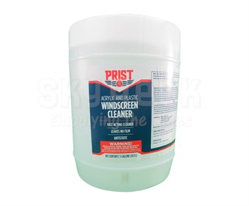 Prist® 77708 Acrylic and Plastic Aircraft Windscreen Cleaner - 5 Gallon Pail