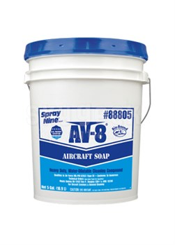 ITW Spray Nine® 88805 AV-8® Clear Heavy-Duty Concentrate Aircraft Cleaning Soap - 5 Gallon Pail