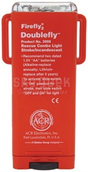 ACR Electronics 3999.1 Firefly2 Doublefly Rescue Combo Light - Strobe/Incandesent