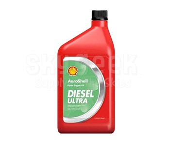 AeroShell Oil Diesel Ultra 5W-30 Synthetic Multi-Grade Aircraft Oil - Liter Bottle