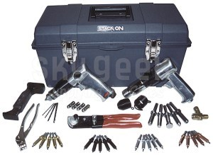 Aircraft Tool Supply 3XSTUD Students 3X Rivet Gun Riveting Kit