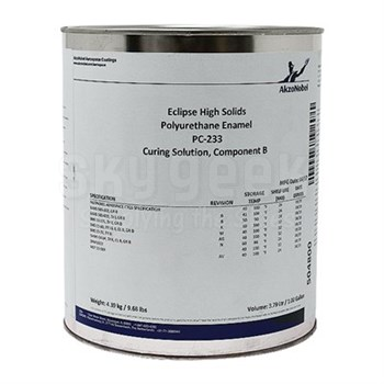 AkzoNobel PC-233 Eclipse® Clear BMS 10-60 Type I & II, Class B, Grade D Spec High Solids Polyurethane Enamel Curing Solution - Gallon Can