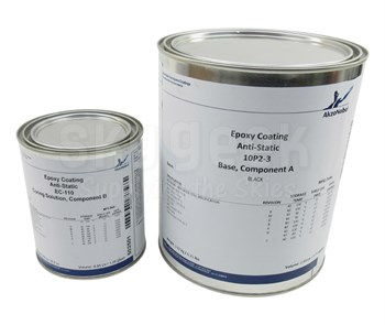 AkzoNobel 10P2-3/EC-110 Flat Black AkzoNobel Aerospace Standard Spec Anti-Static Conductive Epoxy Coating - Gallon Kit