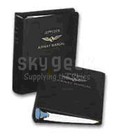 "Jeppesen 10001087 Brown 1"" Ring Superior PLastic Airway Manual Binder"
