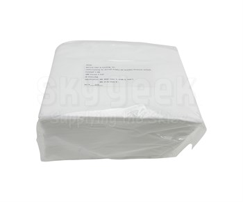 "Purewipe® V-100 White BMS 15-5G, Class A & AMS 3819C, Class 1, Grade A, Form 1 Spec 100% Rayon 12"" x 17"" Critical Non-Woven Wiping Cloth - 50 Wipe/Pack"