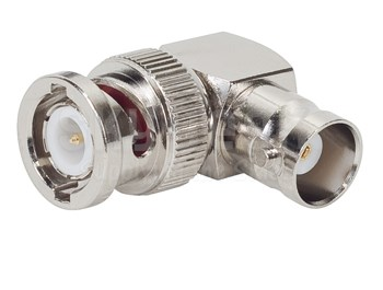 Amphenol RF 31-9-RFX Brass BNC Female to Male Right Angle Connector, Plug, Electrical