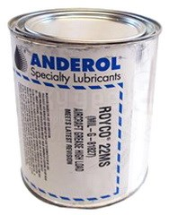 ROYCO® 22MS Black MIL-G-81827A Spec High Load Capacity Synthetic Grease - 1.75 lb Can