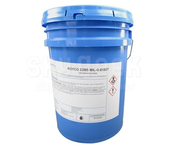 ROYCO® 22MS Black MIL-G-81827A Spec High Load Capacity Synthetic Grease - 5 Gallon Plastic Pail