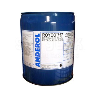 ROYCO® 757 Yellow Low Temperature Hydraulic & Preservative Fluid - 5 Gallon Steel Pail