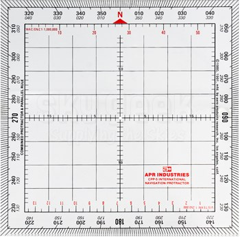"""APR Industries CPP-5 5"""" x 5"""" International Protractor & Parallel Rule Plotter"""