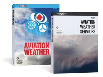 Aviation Supplies & Academics ASA-AC00-6B-45H1 Aviation Weather Softcover Book (Combo)