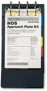 Aviation Supplies & Academics ASA-AP-BD-NOS Black NACO Approach Plate Binder