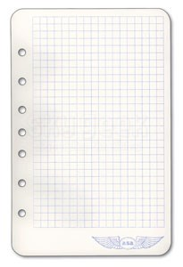 Aviation Supplies & Academics ASA-AP-PAD7RNG Approach Plate Binder 7-Ring Notepad