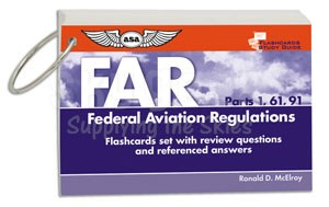 Aviation Supplies & Academics ASA-CARDS-FAR Flashcard Study Guides for FAR