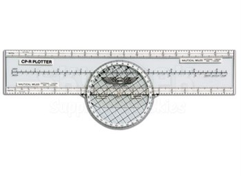Aviation Supplies & Academics ASA-CP-R Nonslip Rotating Azimuth Plotter