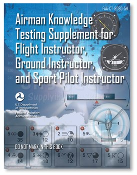 Aviation Supplies & Academics ASA-CT-8080-5H Airman Knowledge Testing Supplement for Flight, Ground & Sport Instructor