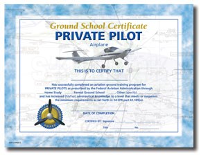Aviation Supplies & Academics ASA-CT-PPGS-2 Private Ground School Certificates - 10 Pack