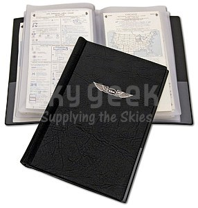 Aviation Supplies & Academics ASA-CW-8 Black Small Book-Style Chart Wallet