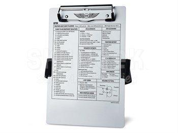 Aviation Supplies & Academics ASA-KB-2 Brushed Aluminum IFR Kneeboard with Leg Strap